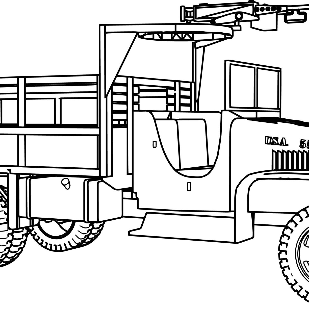 1224x1224 Army Colouring Pages Coloring Vehicles For Adults Free Printable