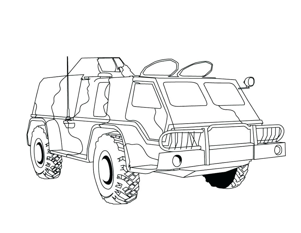 970x750 Coloring Pages Army