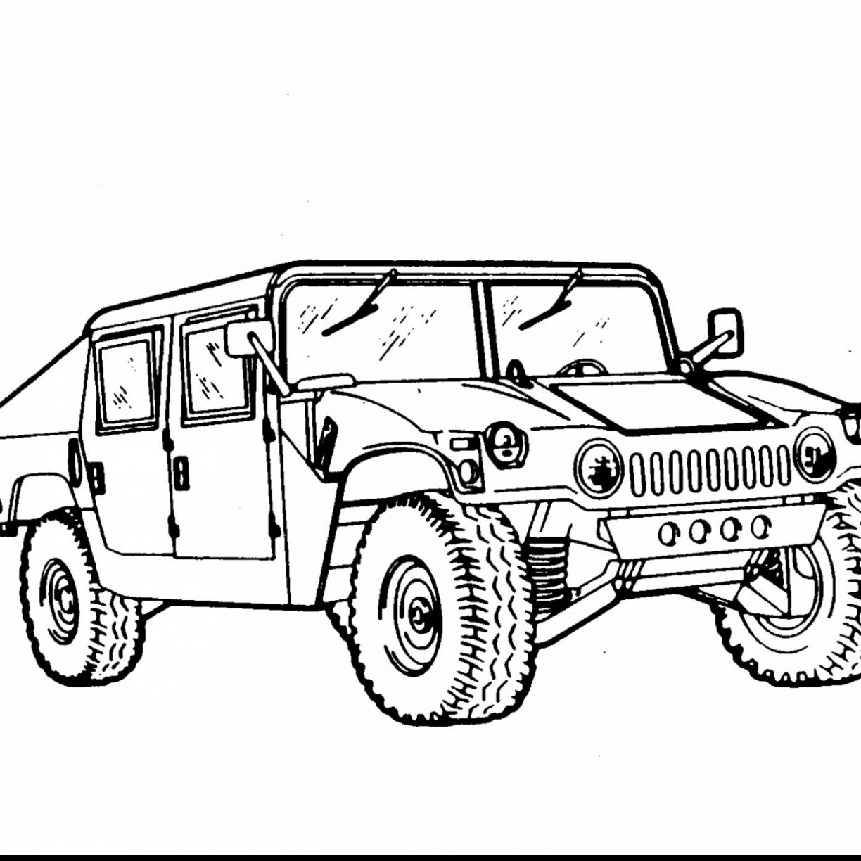 1224x1224 Army Truck Coloring Page Vehicle Pages Google Vehicles For Adults