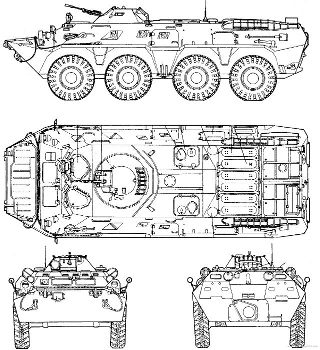 640x699 Btr 80 8x8 Armoured Vehicle Personnel Carrier Technical Data Sheet
