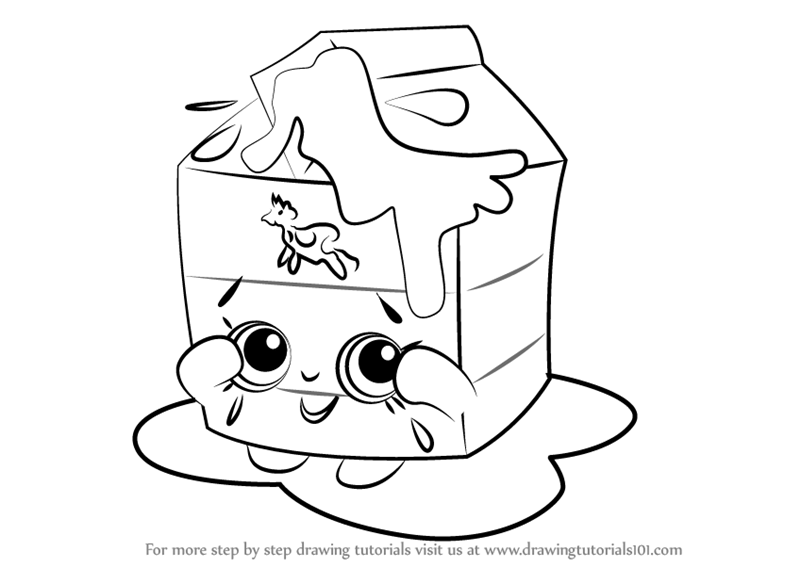 800x567 Learn How To Draw Spilt Milk From Shopkins (Shopkins) Step By Step