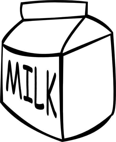 486x597 Milk (B And W) Clip Art Free Vector In Open Office Drawing Svg