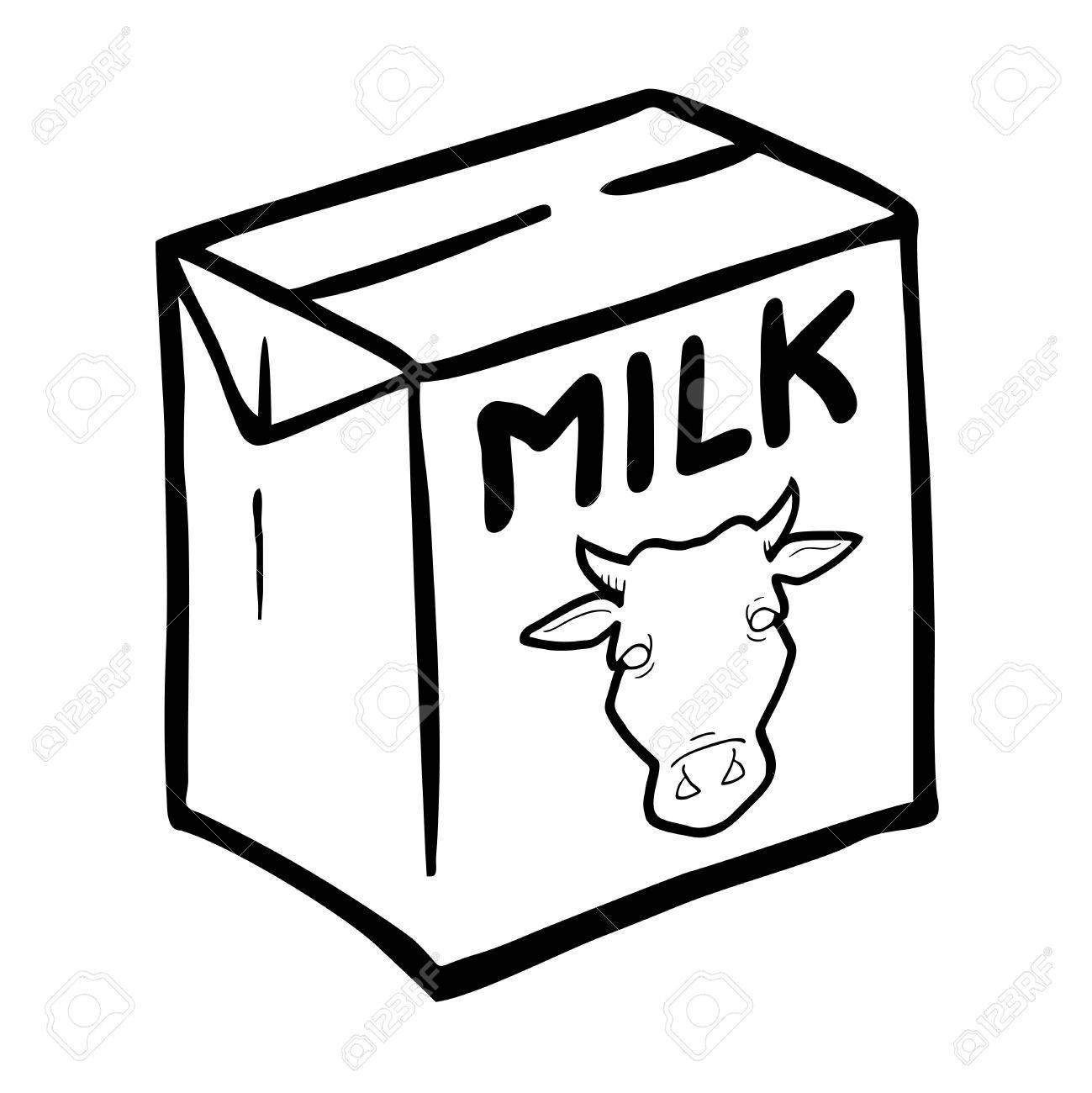 1299x1300 Milk Box Vector Royalty Free Cliparts, Vectors, And Stock
