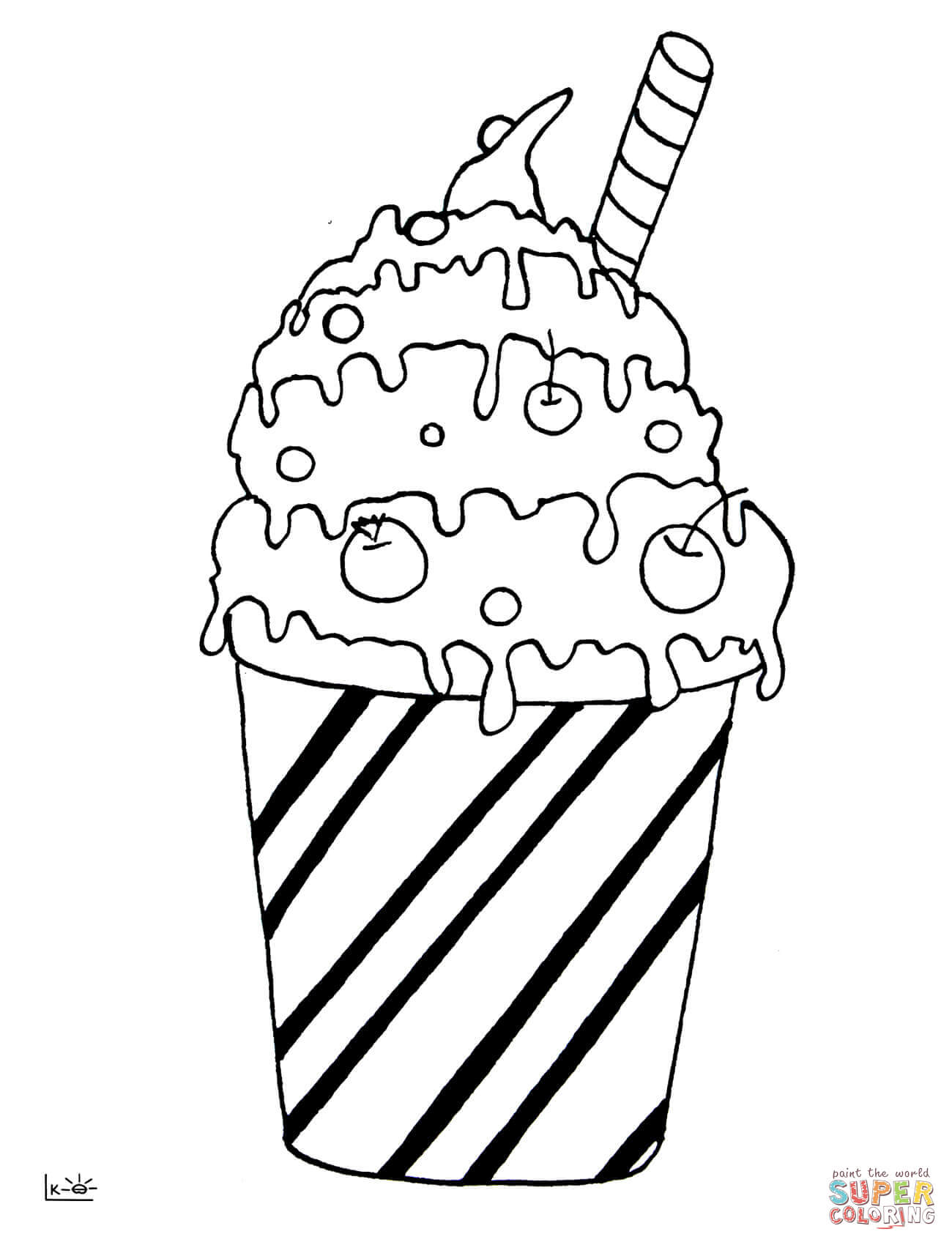 1300x1700 Milk Cocktail Coloring Page Free Printable Coloring Pages