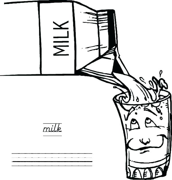 600x631 Milk Coloring Page Milk Coloring Page Milk Carton Coloring Page