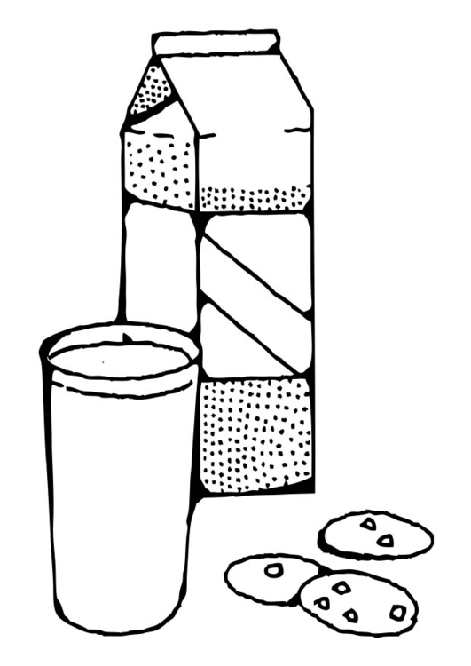531x750 Coloring Page Milk