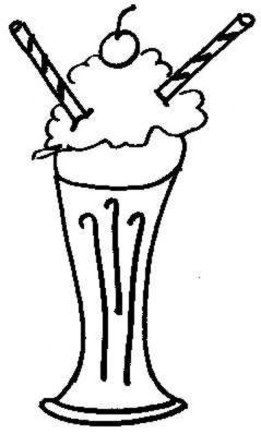 379x630 milkshake clipart black and white