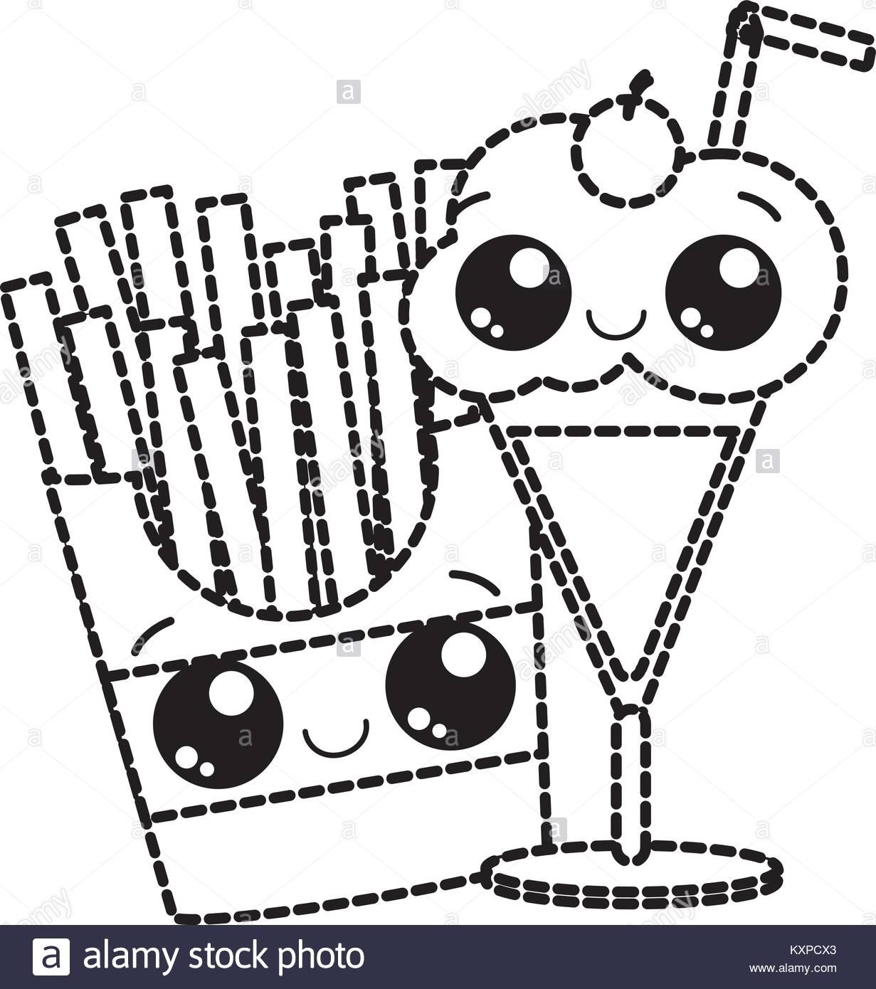 1231x1390 Milkshake Kawaii Icon Image Vector Stock Photos Amp Milkshake Kawaii