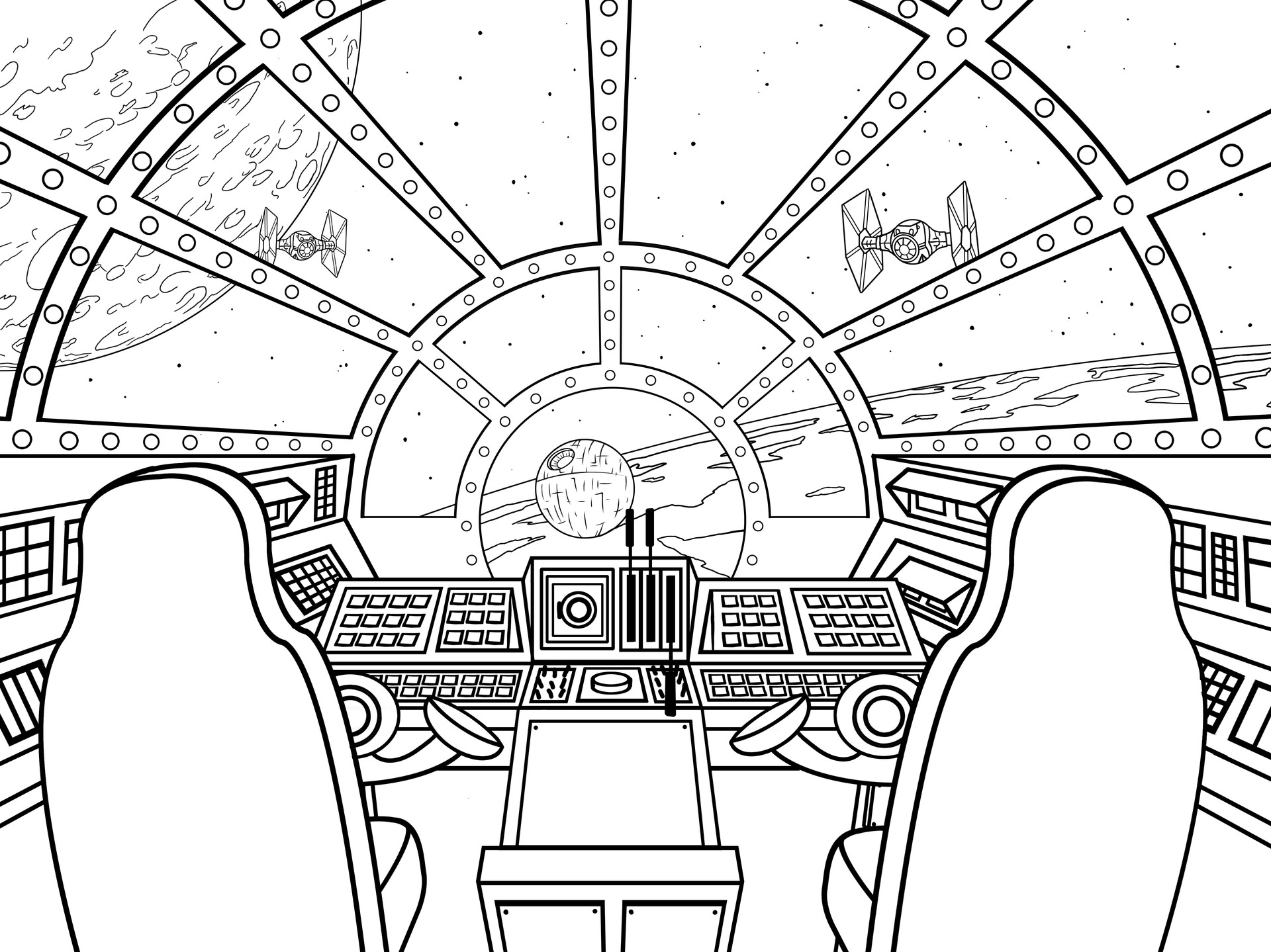 Millennium Falcon Drawing