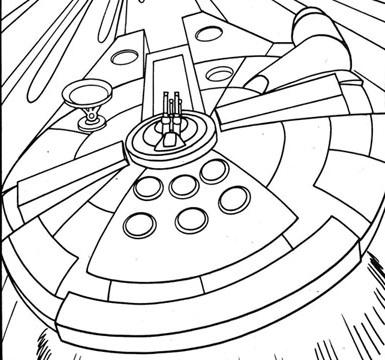 385x360 Millennium Falcon Colouring Page Mffanrodders's Blog