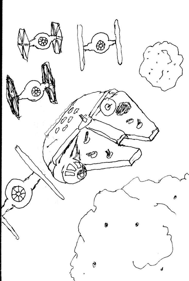 734x1088 Millennium Falcon Dsc June 7 2013 By Azabachesilver