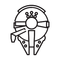 200x200 Millennium Falcon Icons Noun Project