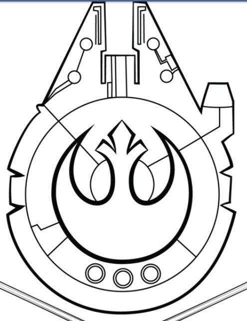 495x641 Illustration Millenium Falcon