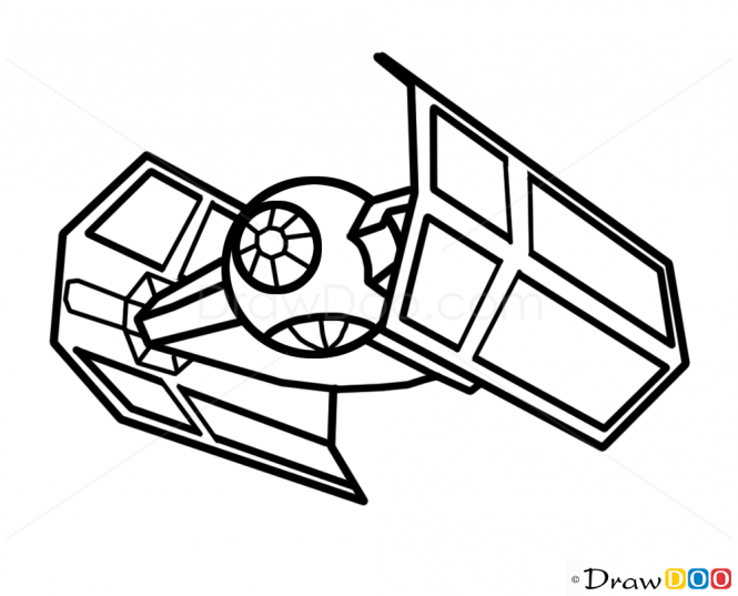 665x537 Millennium Falcon Drawing