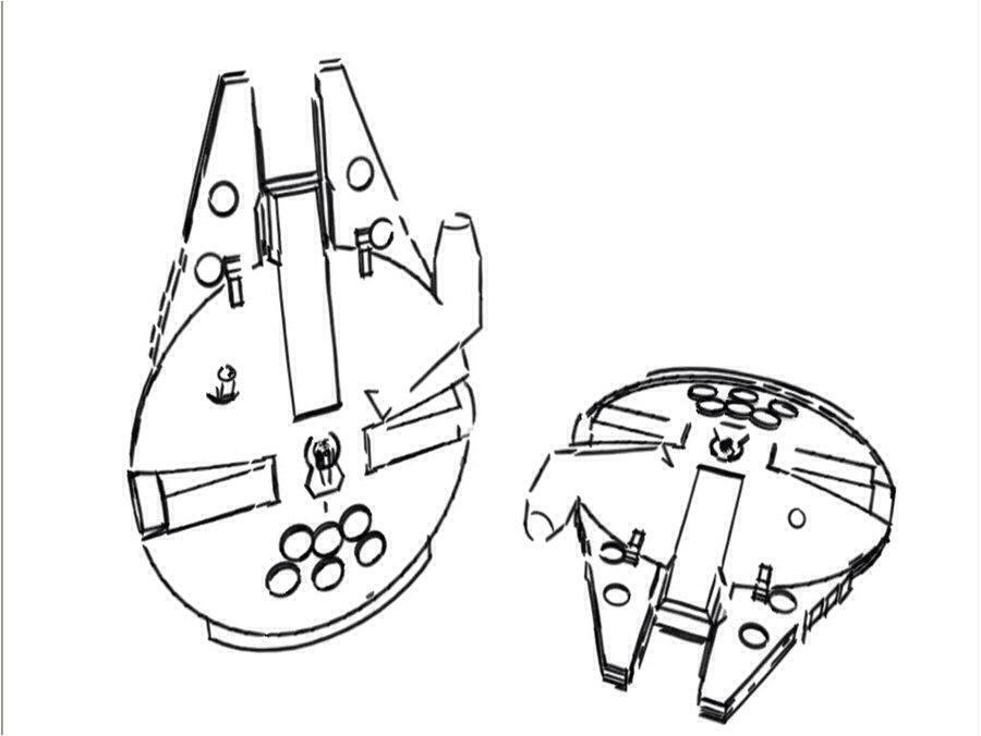 900x676 Millennium Falcon Sketch Tattoo Design Tattoos