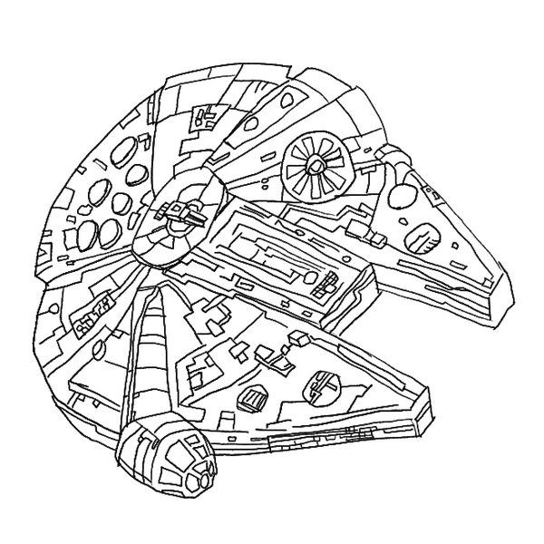 Millennium Falcon Drawing at GetDrawings | Free download