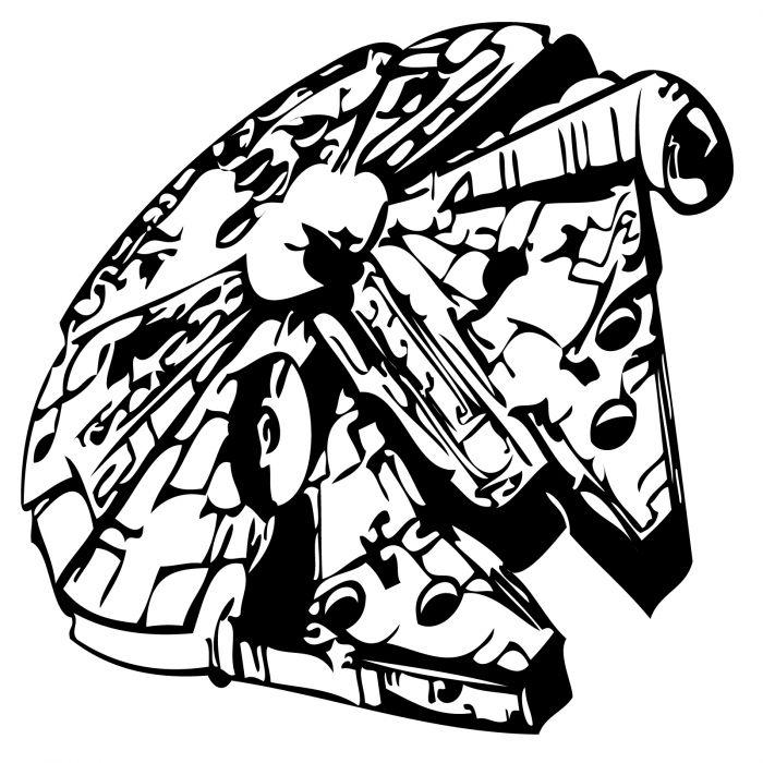 700x700 Gsstarwars 5 Millenium Falcon Space Ship Star Wars Size 60 Cm X 60