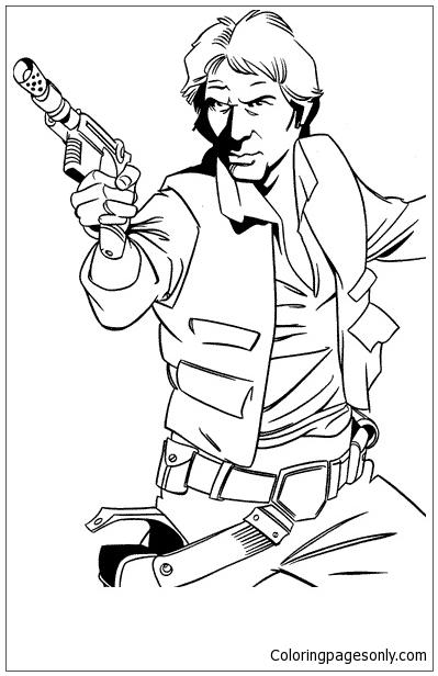 399x616 Han Solo Captain Of The Millenium Falcon Coloring Page