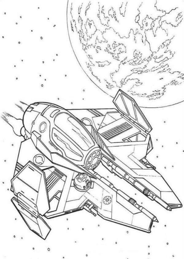 600x844 Spaceship Coloring Pages Simple Millenium Falcon Star Wars Ship