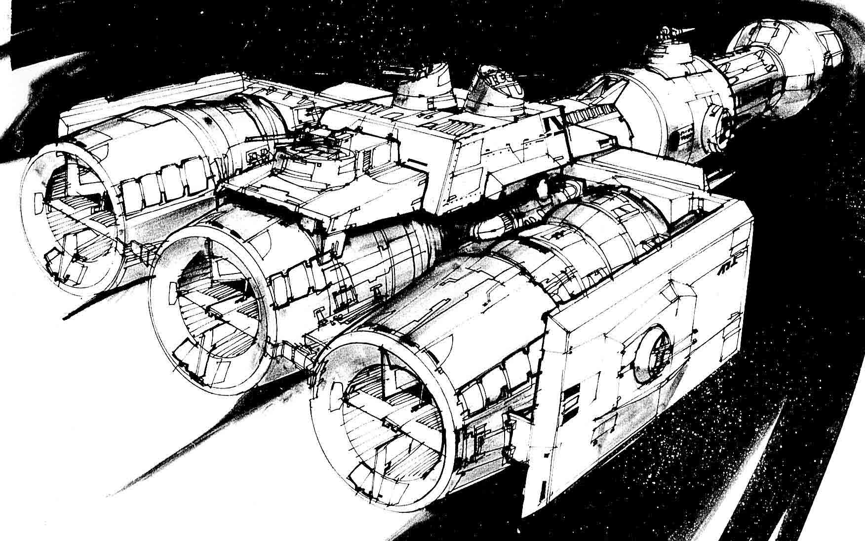 Millennium Falcon Technical Drawing at GetDrawings | Free ...