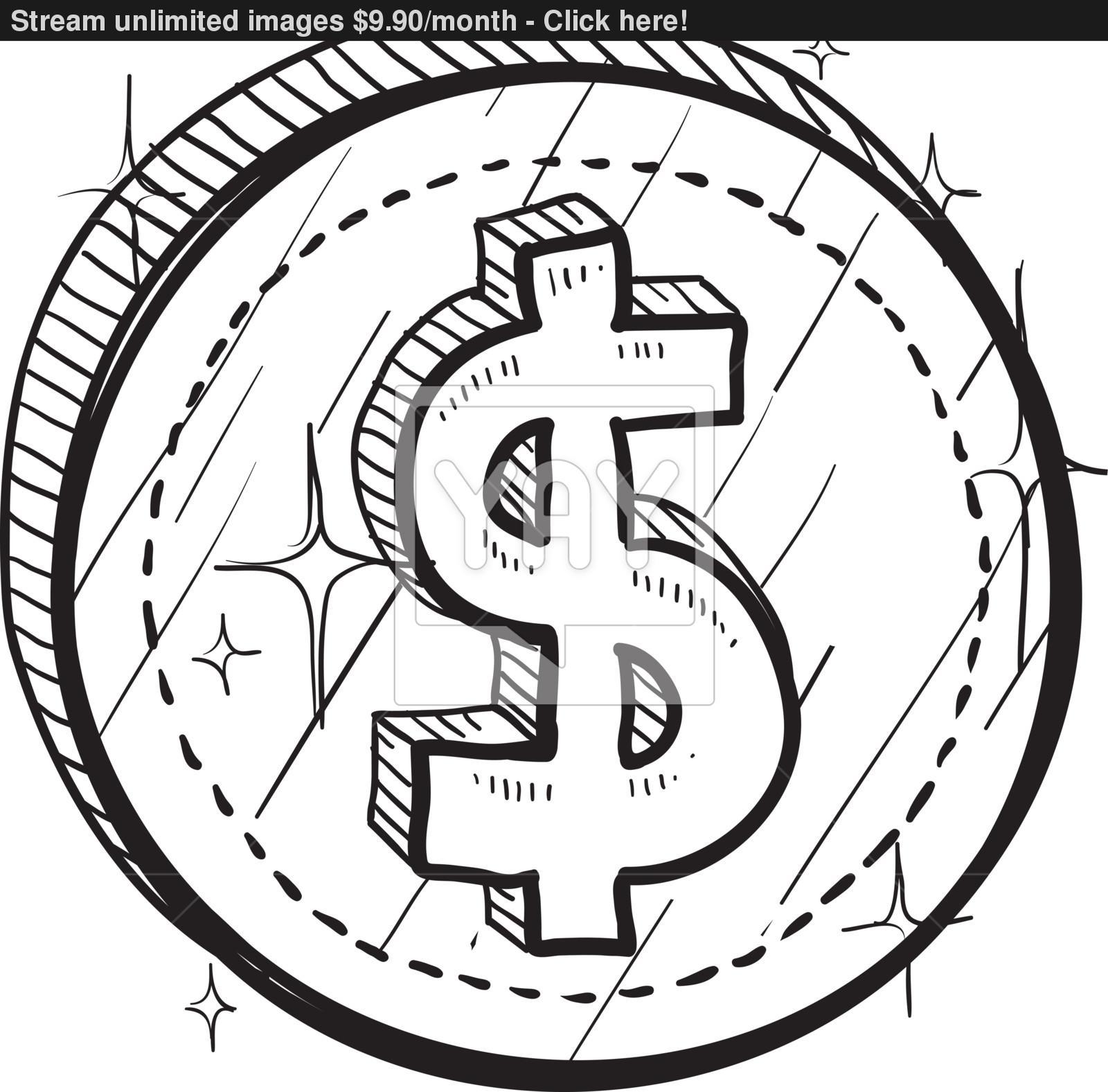 1600x1577 Dollar Sign Vector Sketch Vector