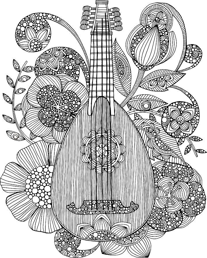 720x900 Ever Mandolin Drawing By Valentina Harper