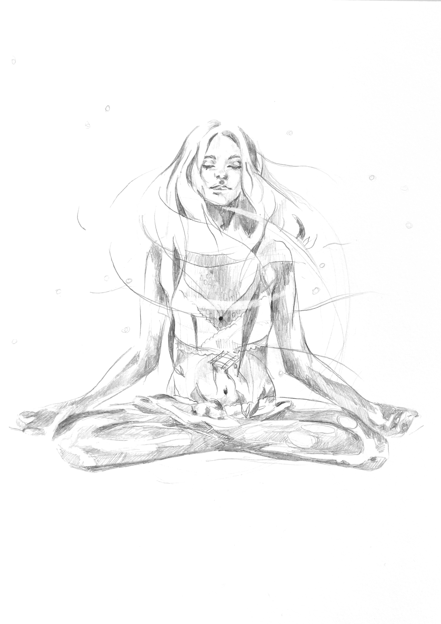 1500x2122 Hand Drawn Animation Yoga Meditation Hand Drawn Animated Gif