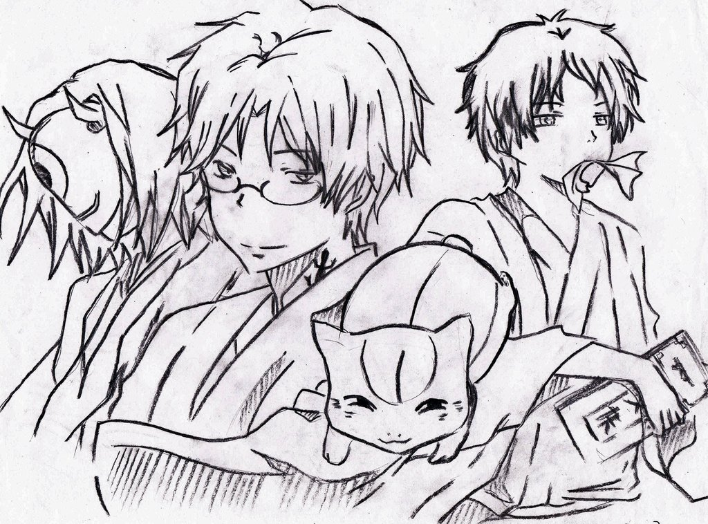 1024x758 Old Natsume Yuujinchou Drawing Of Mine By Rurigi