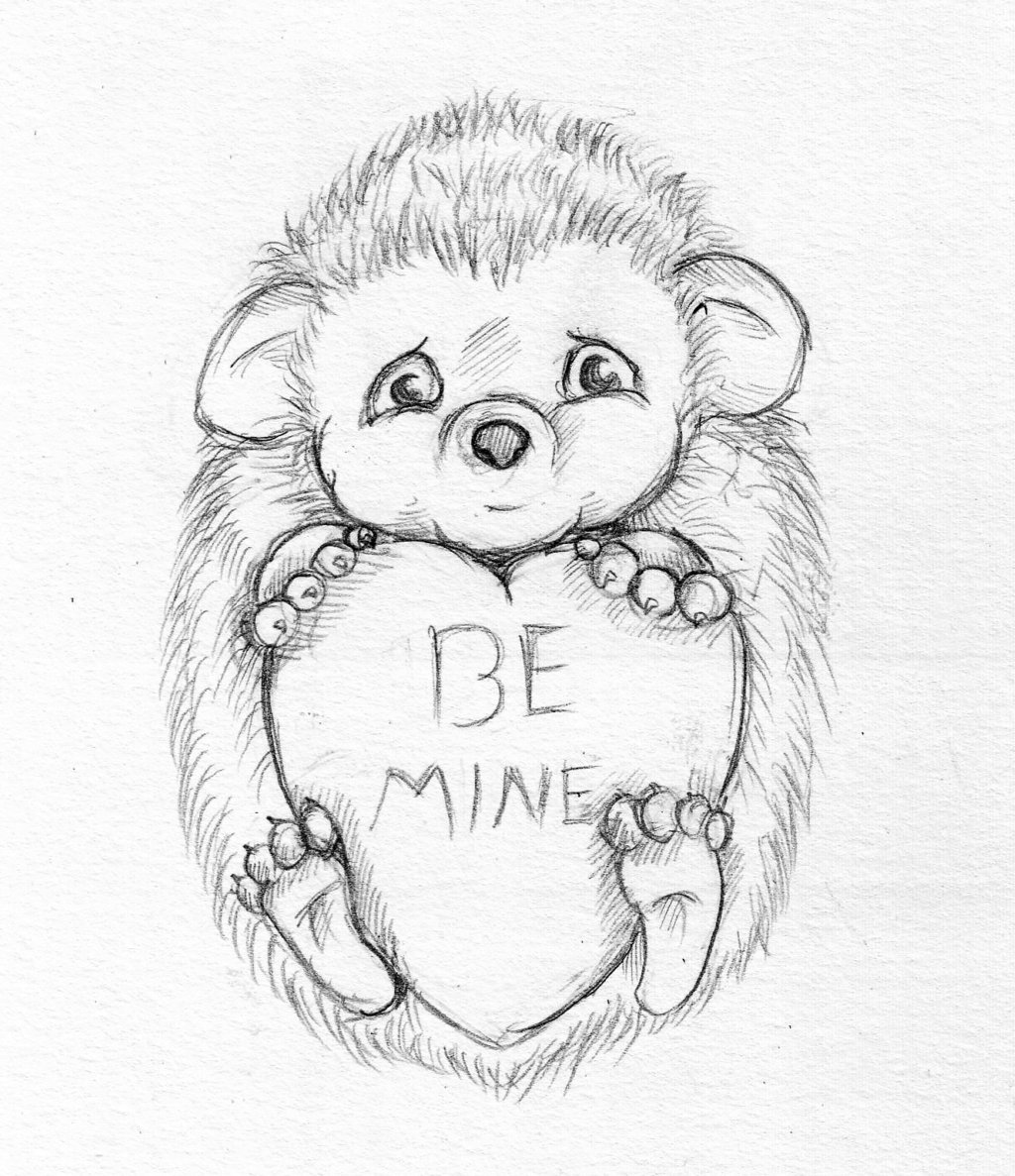 1024x1187 Sketch Of Monkey Be Mine Heart Graphic