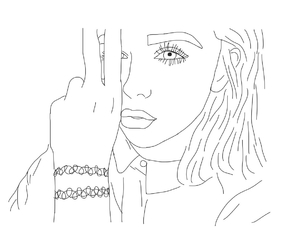 300x250 29 Images About My Outline Drawings On We Heart It See More