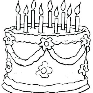 300x300 Free Coloring Pages Birthday Cake Best Of Cake Happy Birthday