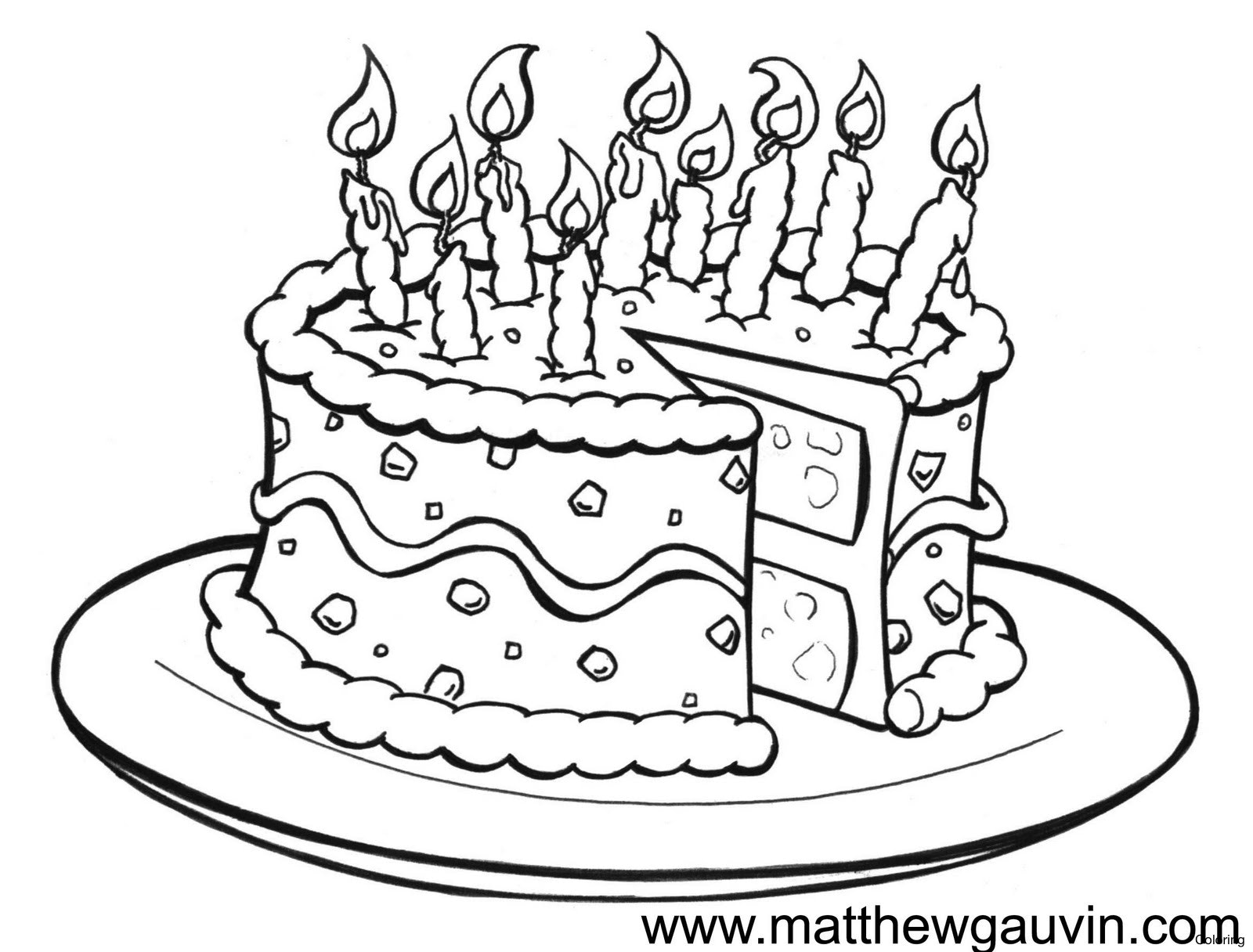 1600x1216 Maxresdefault How To Draw A Cake Coloring Birthday Easy Step By