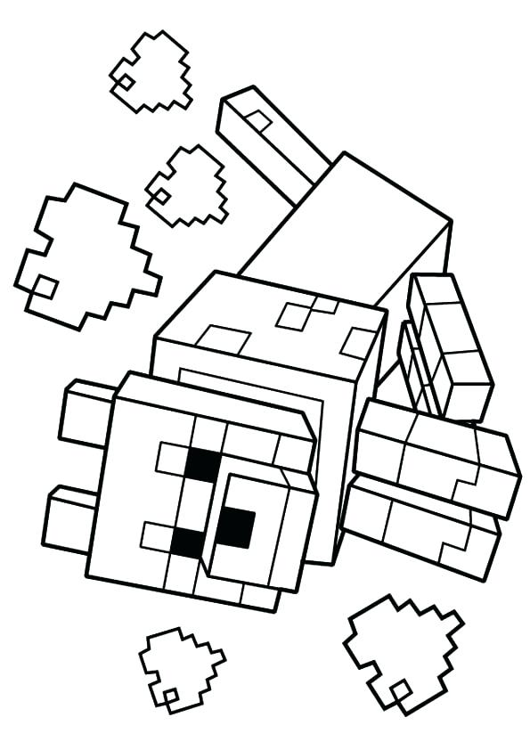 595x842 Minecraft Coloring Pages To Print As Wolf Coloring Page Minecraft