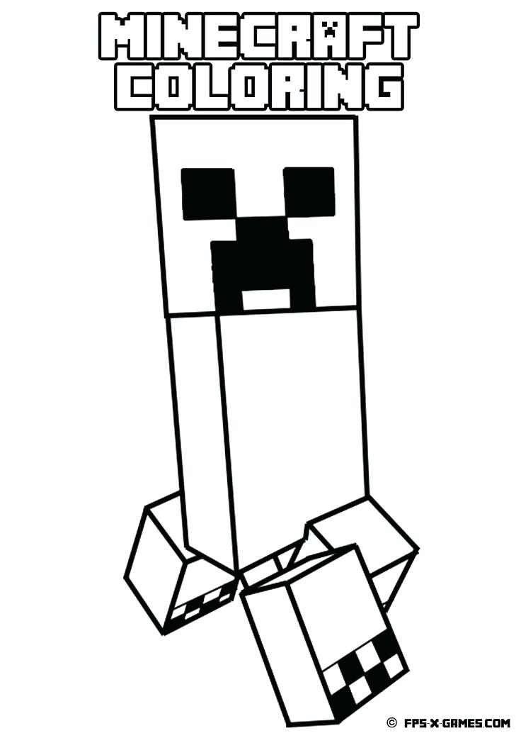 736x1041 Printable Minecraft Coloring Pages As Coloring Page Cake Free