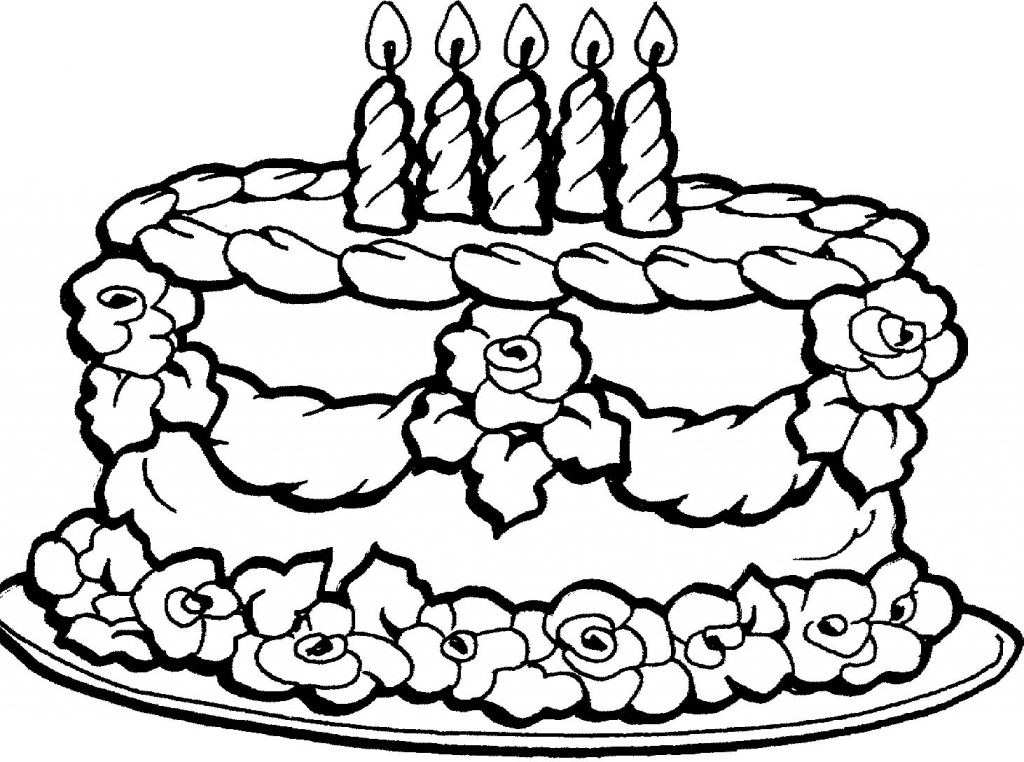 1024x762 birthday cake coloring pages