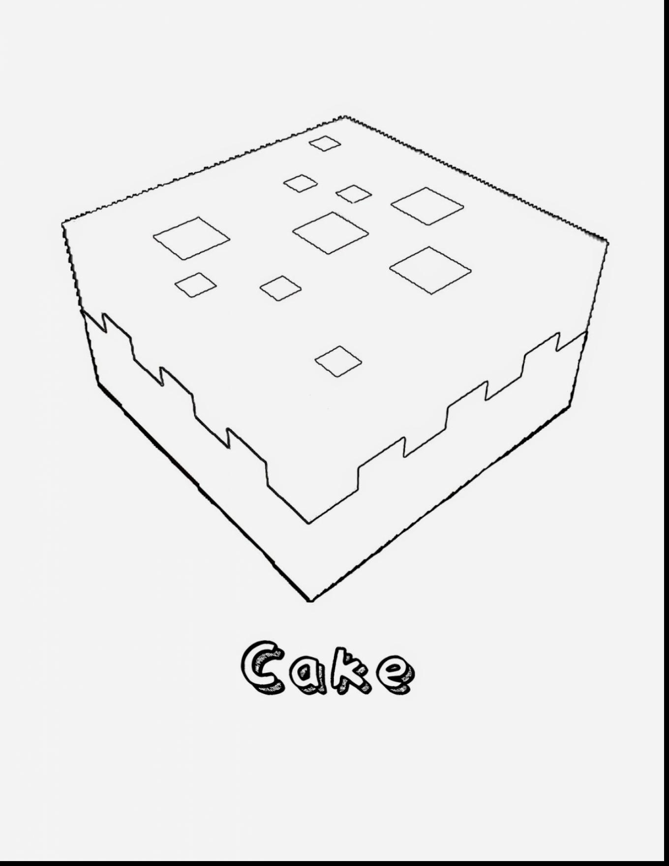 1360x1760 Fantastic Minecraft Cake Coloring Pages With Coloring Pages