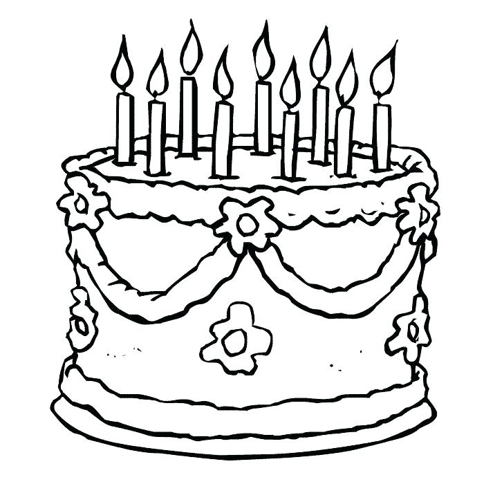 700x700 Cake Printable Coloring Pages Happy Birthday Coloring Page