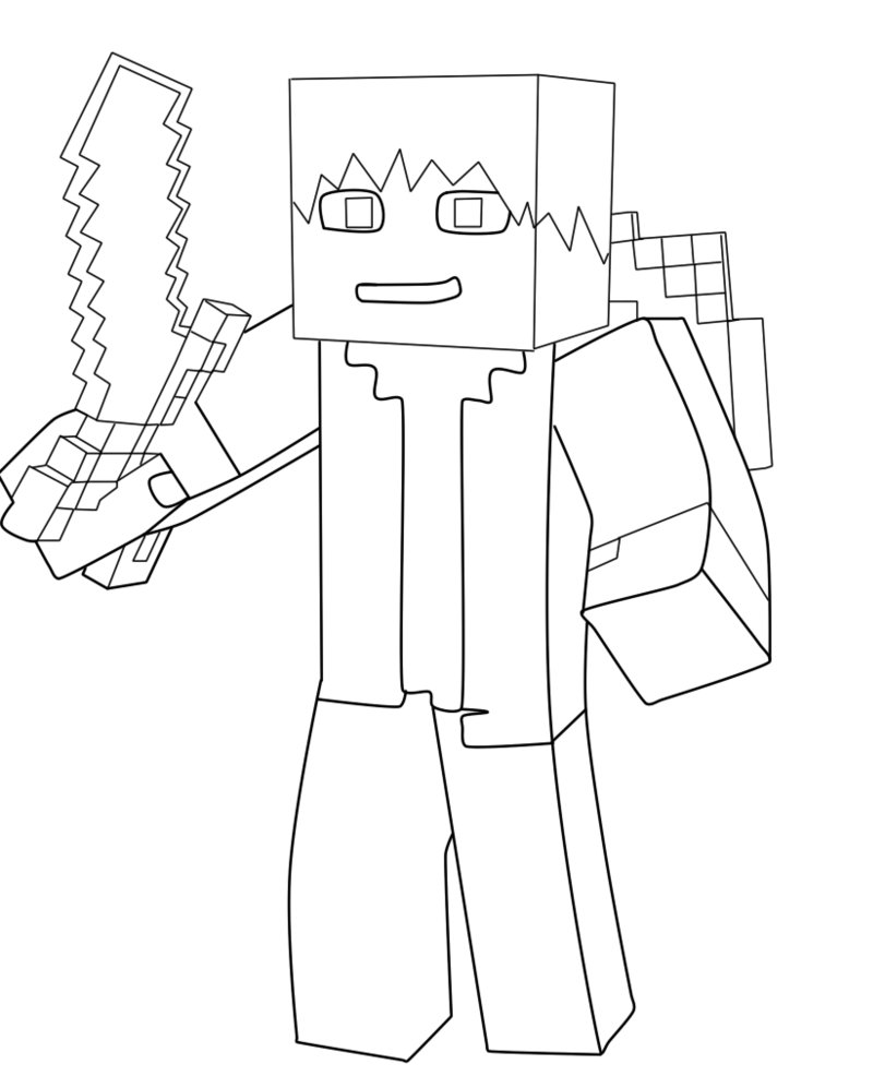 811x986 Minecraft Cartoon