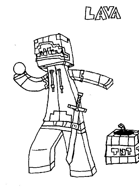 579x799 Minecraft Character Drawing By Lava1o