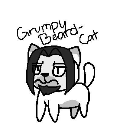 397x435 Minecraft Story Mode The Grumpy Beard Cat By Prettyxthexartist