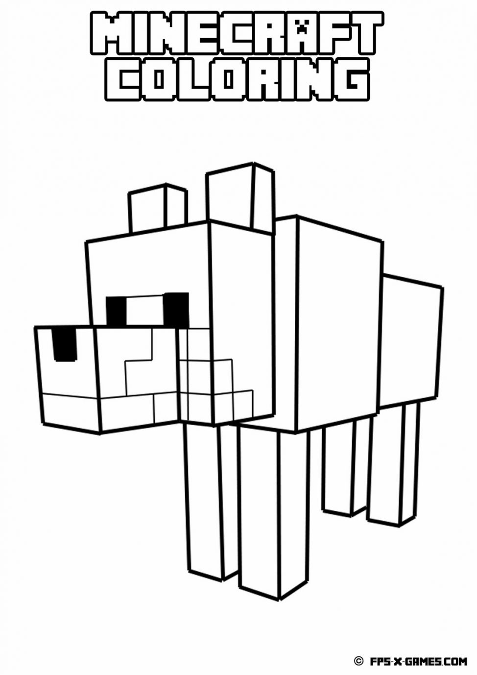 974x1378 Coloring Pages Appealing Stampy Printable