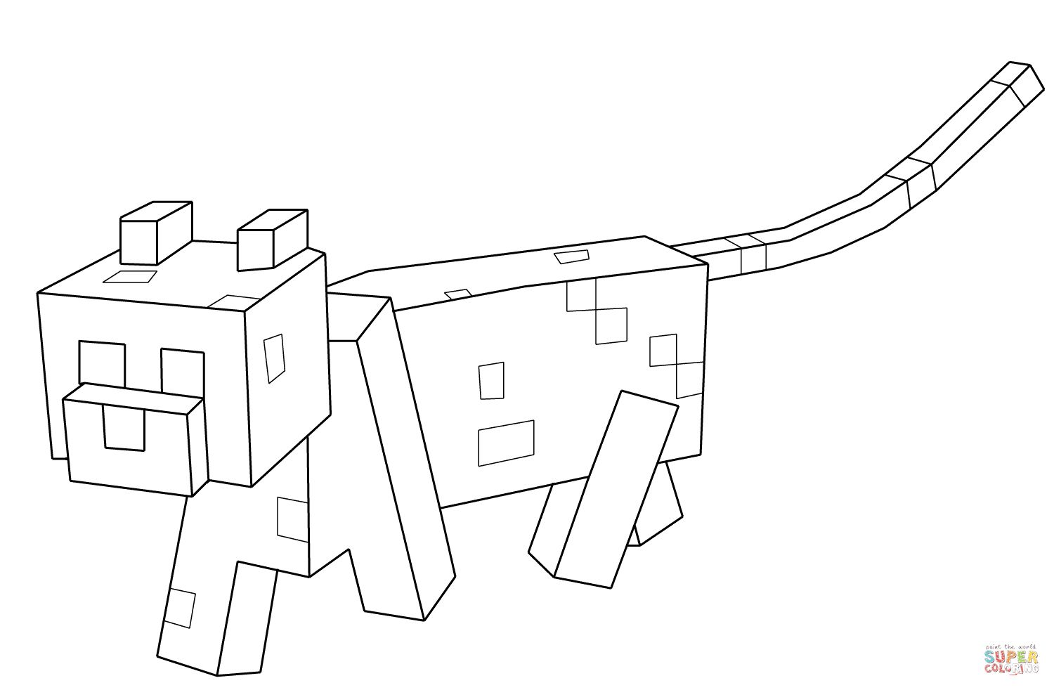 Minecraft Cat Drawing at GetDrawings.com | Free for ...