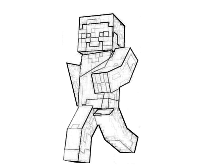 800x667 Minecraft Character Yumiko Fujiwara Minecraft Coloring