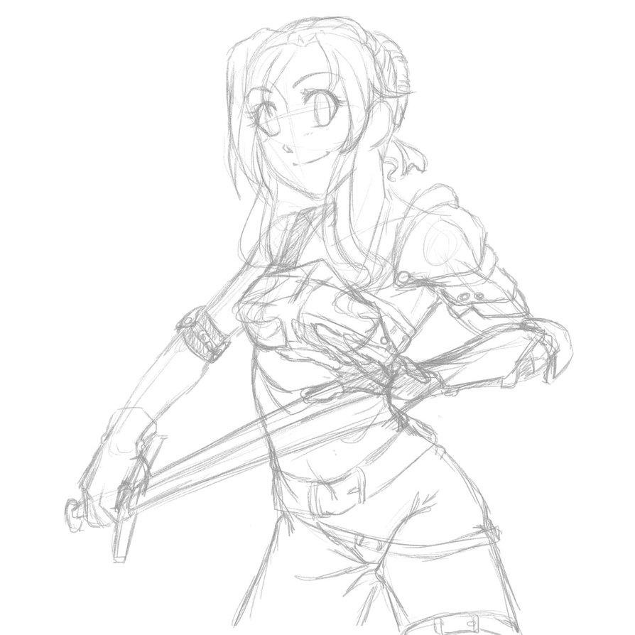 894x894 Minecraft Character Sketch By Nanashii Kun