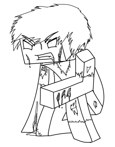 376x480 Minecraft Herobrine Coloring Page Free Printable Coloring Pages