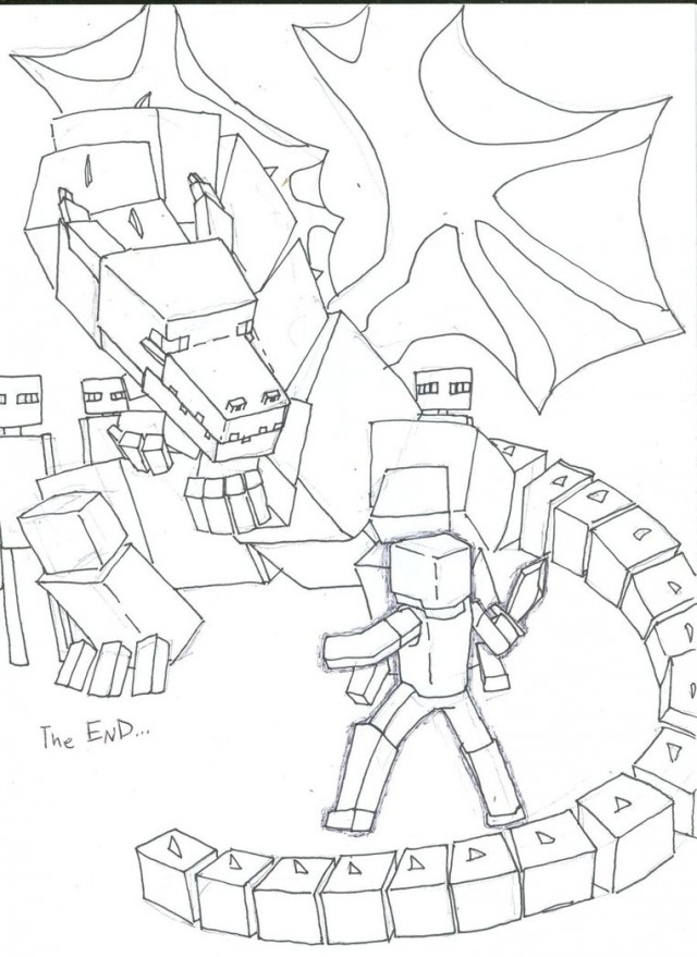 640x879 Minecraft The Enderdragon By Die Laughing On Dragons