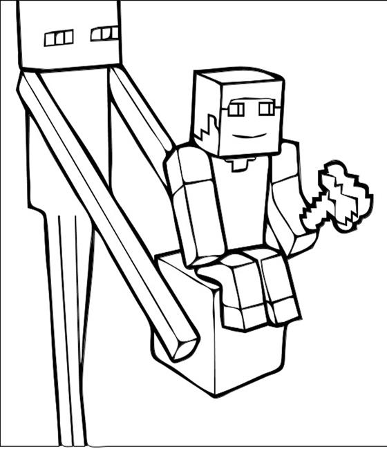 560x650 Enderman Minecraft Coloring Pages