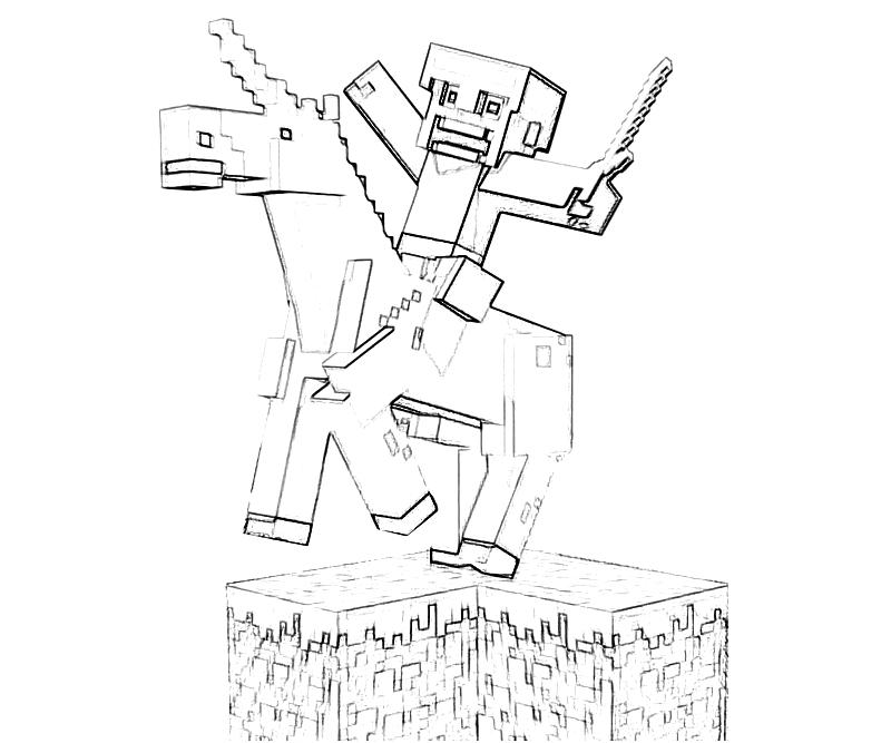 800x667 Minecraft Drawings Home Gt Minecraft Gt Minecraft Character Action