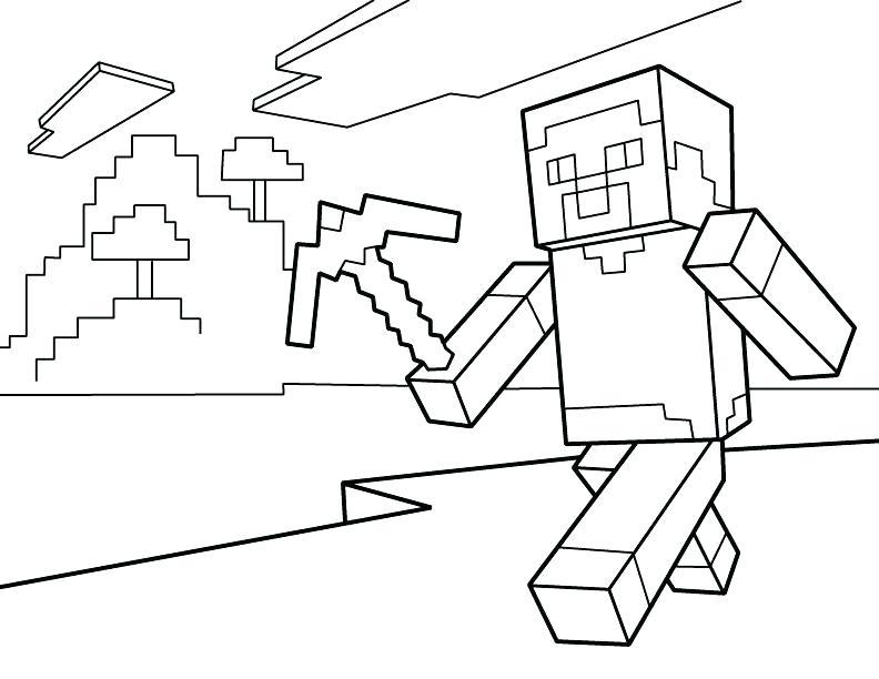 lego minecraft bilder zum ausmalen  malvorlagen