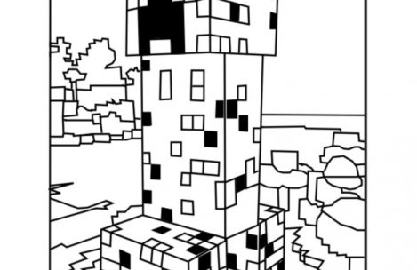 469x304 Minecraft Coloring Pages Creeper Just Colorings